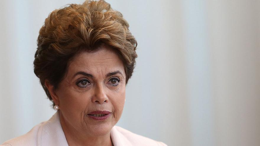 Suspended Brazilian President Dilma Rousseff appeals to the people to avoid impeachment