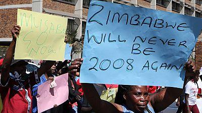 La police a dispersé des manifestants au Zimbabwe