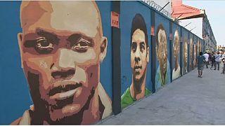L'équipe olympique de réfugiés immortalisée sur les murs de Rio