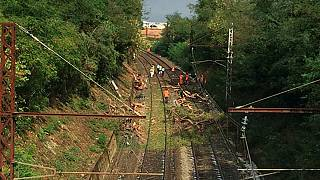 Around 60 people hurt in train crash in southern France