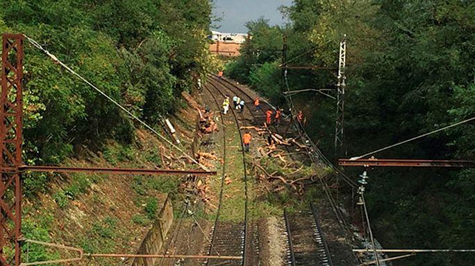 فرنسا: عشرات الجرحى في حادث قطار