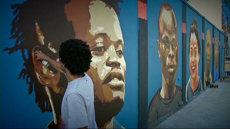Flüchtlingsteam in Rio mit Kunstwerk geehrt