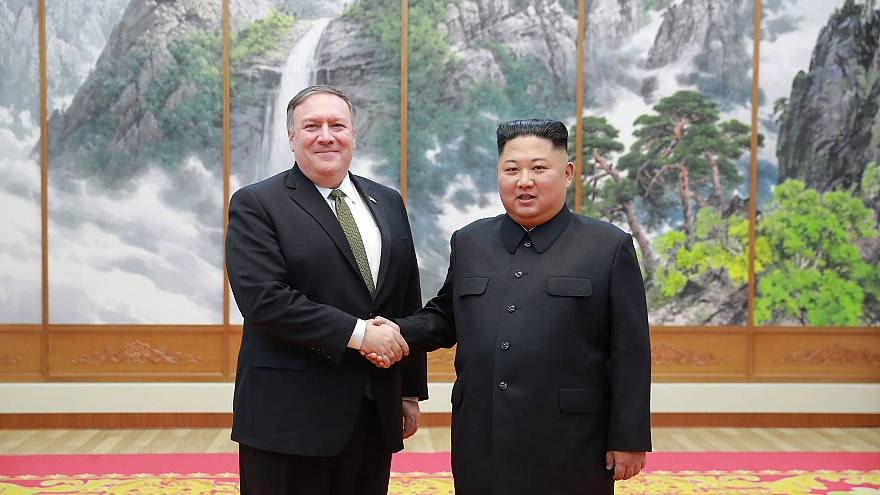 Image: United States Secretary of State Mike Pompeo visits North Korea