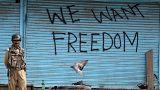 Keşmir'de BM önünde protesto
