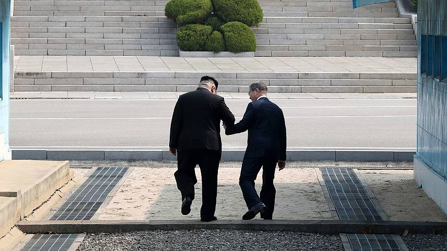 Image: Inter-Korean summit between heads of state of South and North Korea