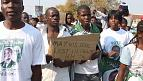 Gabonese in Morocco protest Ali Bongo's re-election [no comment]
