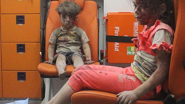 Egy 5 éves kisfiú az 5 éve tartó szíriai polgárháború új arca