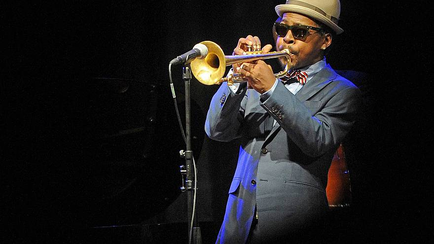 Image: Jazz trumpeter Roy Hargrove performs during the ''Jazz at Prague Cas
