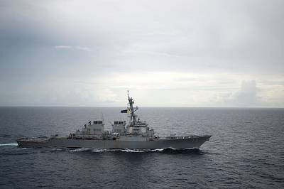 The USS Decatur in the South China Sea in 2016.