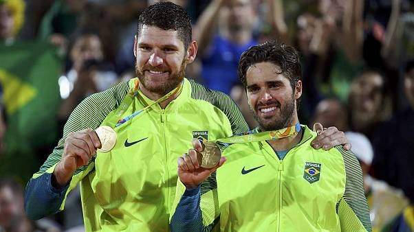 Brazil scores gold in men's beach volleyball