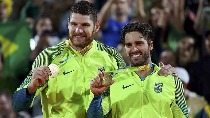 Brazil scores gold in men's beach volleyball