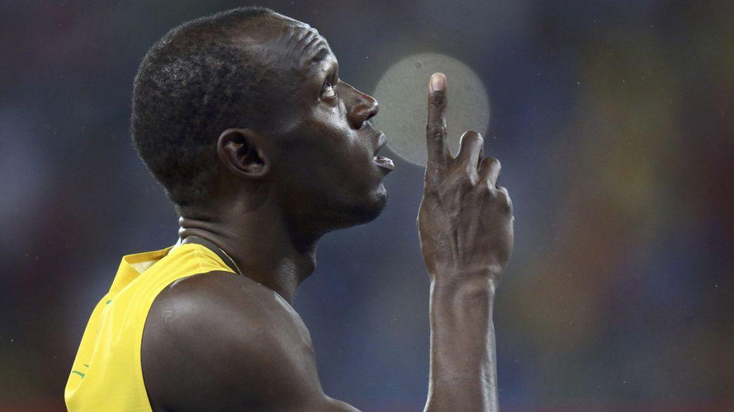 Ямайские болельщики празднуют очередную победу Усэйна Болта