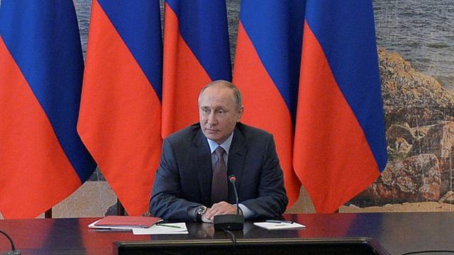 A Krímbe látogatott az orosz elnök