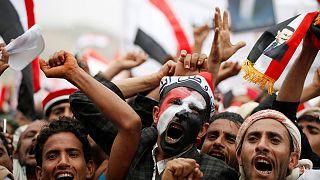 Manifestação no Iémen contra coligação liderada pela Arábia Saudita
