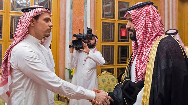 Image: Saudi Crown Prince Mohammed bin Salman meeting with Khashoggi's son