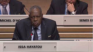 CAF president Issa Hayatou conferred IOC honorary member