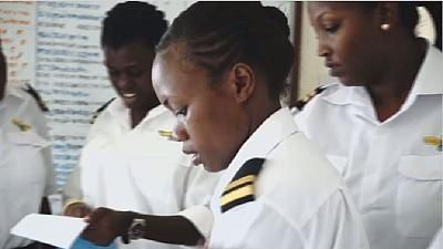 Young Ugandan women fly high in a male dominated field
