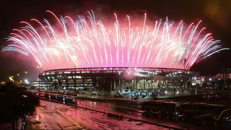 Ponto final festivo nos jogos Olímpicos do Rio de Janeiro