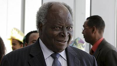 Former Kenyan president Mwai Kibaki receiving treatment in South Africa
