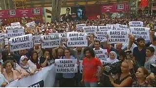 Protests as Turkey mourns 51 people killed in Gaziantep attack
