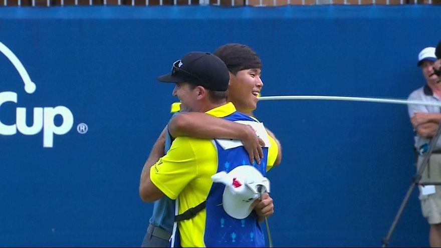 الكوري الجنوبي سي كيم يفوز ببطولة غرينسبورو للغولف رغم صغر سنه