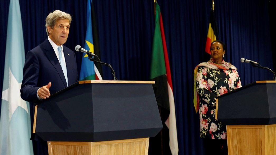 John Kerry'nin Kenya'da gündemi Güney Sudan
