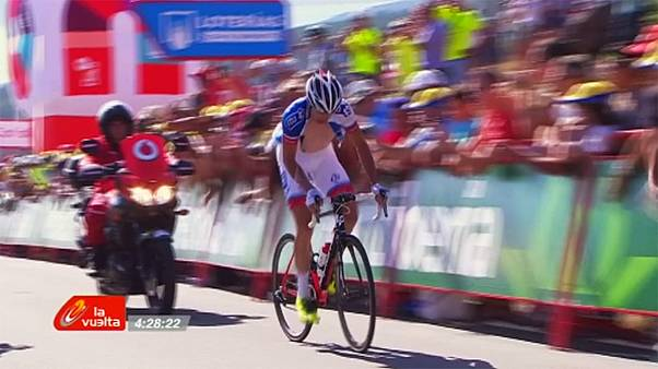 Rubén Fernández, nuevo maillot rojo de la Vuelta a España
