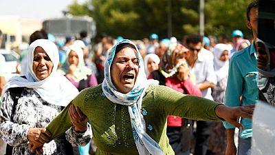 Des victimes de Gaziantep (sud-est de la Turquie) ont été inhumées