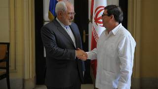 Cuba and Iran exchange pleasantries in first stop of Zarif's business-boosting tour