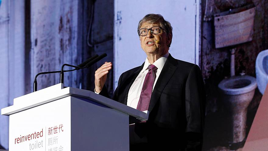 Image: Microsoft founder Bill Gates speaks during the opening ceremony of t
