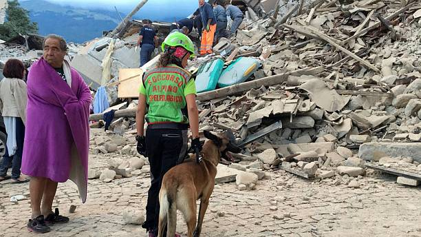 Small village in central Italy is badly damaged in strong earthquake