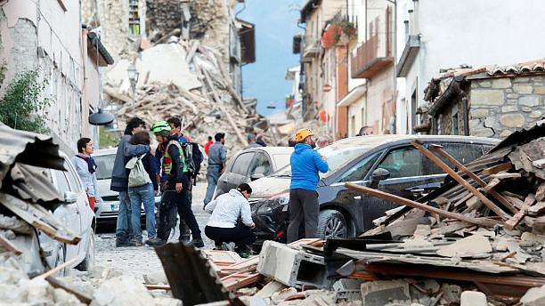 At least ten dead after quake hits central Italy