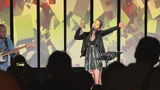 A kapolcsi jazz udvar gazdasszonya: Harcsa Veronika