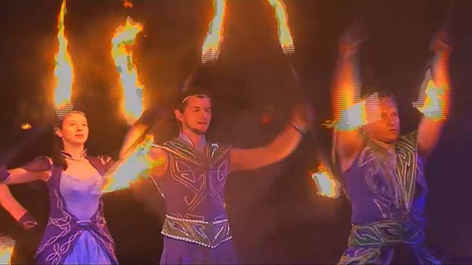 A arte do fogo em destaque na Bielorrússia
