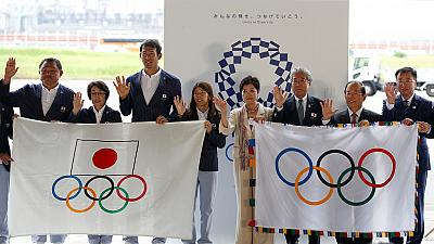Olympic flag arrives in Tokyo as countdown begins for 2020 summer games