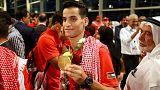 Ein wahrlich königlicher Empfang für Ahmed Abu Ghaush