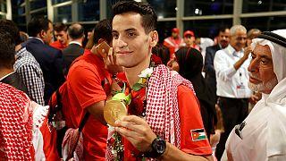 استقبال حافل في عمان لبطل التايكواندو أحمد أبو غوش وميداليته الذهبية التاريخية
