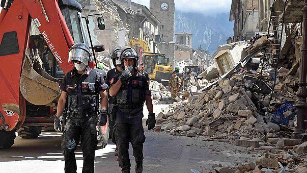 Al menos 73 personas perdieron la vida tras el terremoto en el centro de Italia
