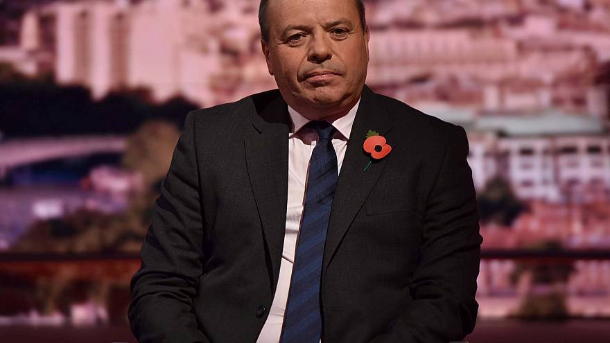 Image: Brexit campaigner, Arron Banks, appears on the BBC's Andrew Marr Sho