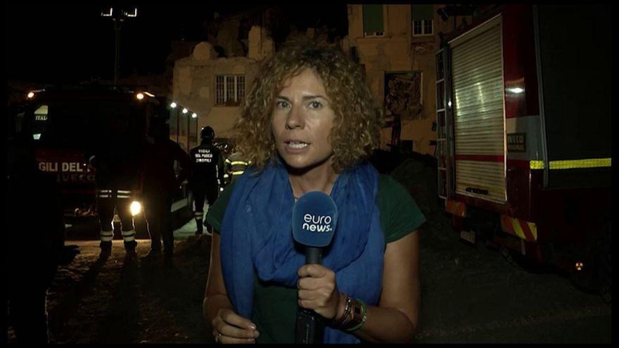 زلزال ايطاليا يلحق دمار واسعا في بلدة اماتريتشه السياحية