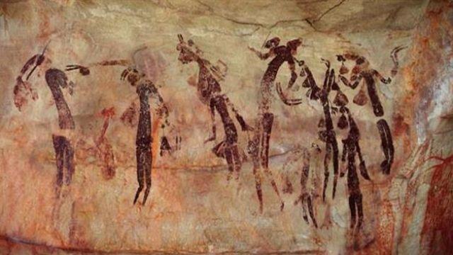 Art rupestre dans le bush australien
