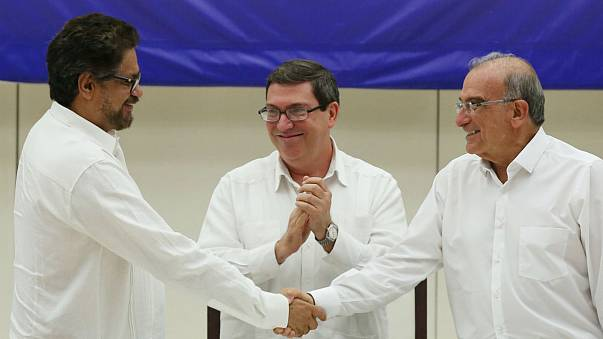 Colombia and FARC rebels sign historic peace deal