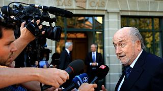 Blatter confiante à entrada do Tribunal Arbitral do Desporto