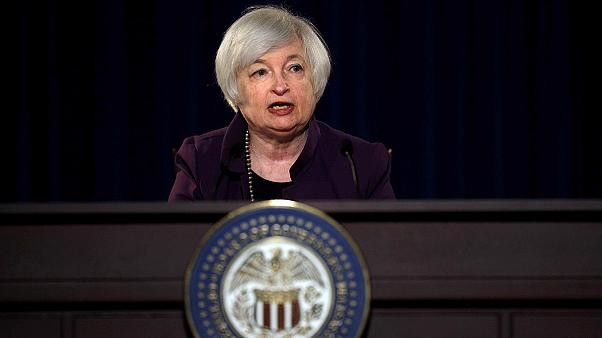 Investors await Federal Reserve Chair Janet Yellen's interest rate thoughts
