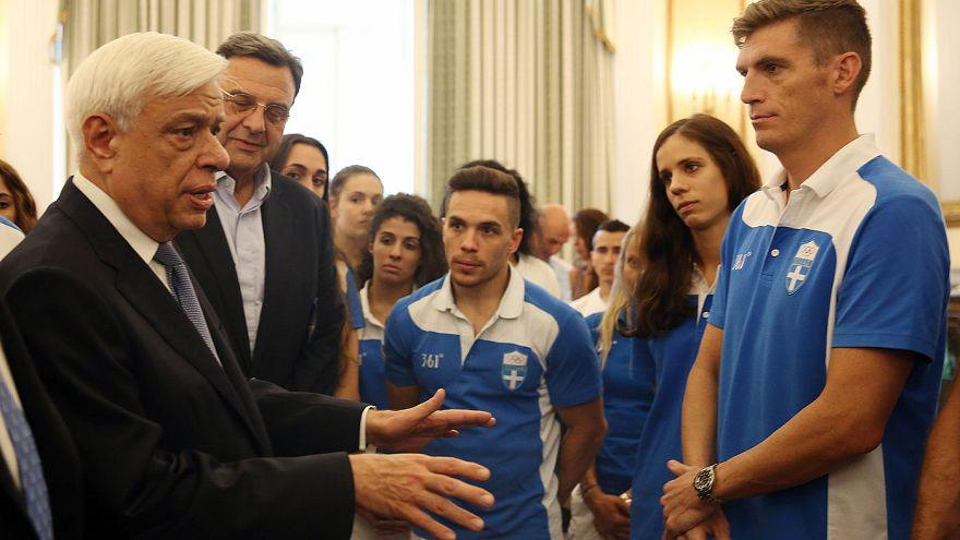 Στο προεδρικό μέγαρο οι Έλληνες Ολυμπιονίκες