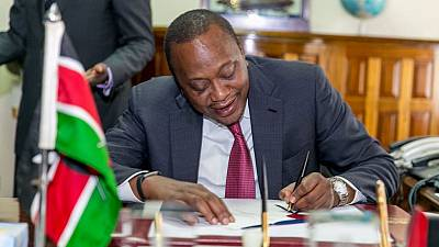 Kenya's president signs bill capping interest rates