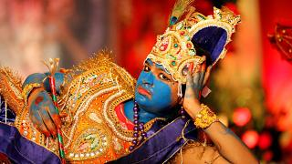 "A Mumbai l'annuale festival ""Dahi Handi"""