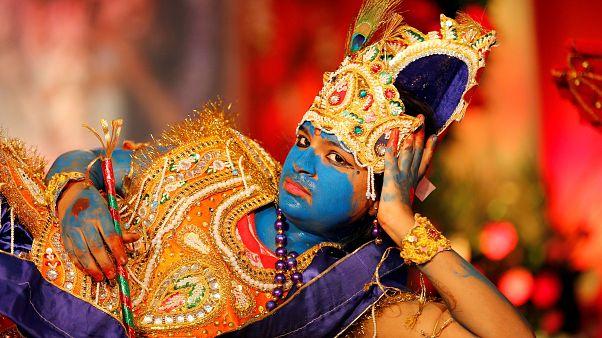 В индийском Мумбаи отметили день рождения Кришны