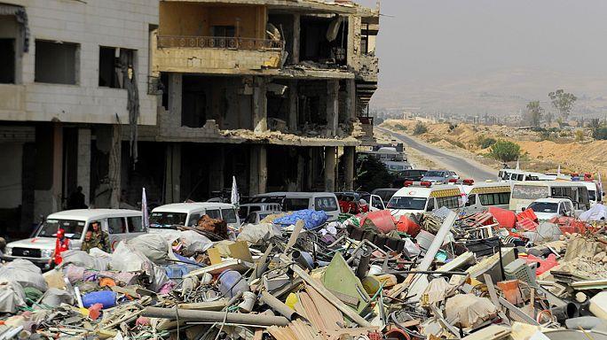 بدء اخلاء مدينة داريا السورية من المدنيين والمقاتلين