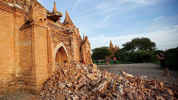 زلزال مْيانْمار أضر َّبأكثر من 180 معبدأ في موقع باغان الأثري